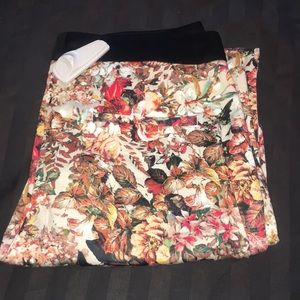 Zara crazy floral pants size small